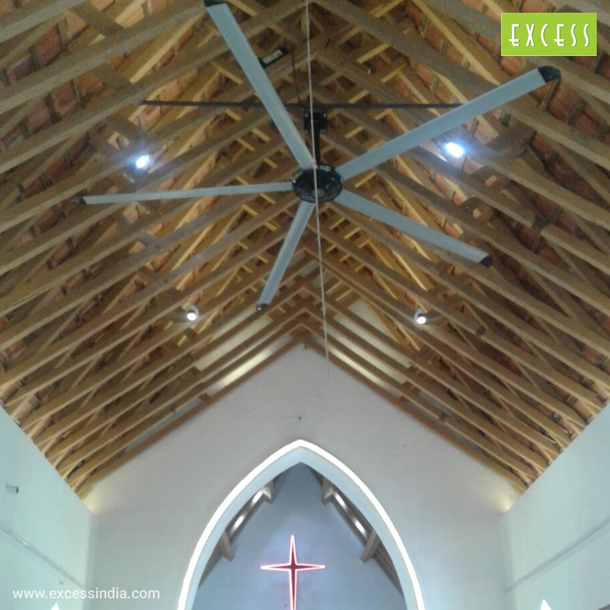 Large Church HVLS Fans - Excess India